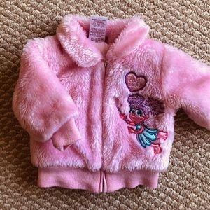 Sesame Street faux fur bomber jacket
